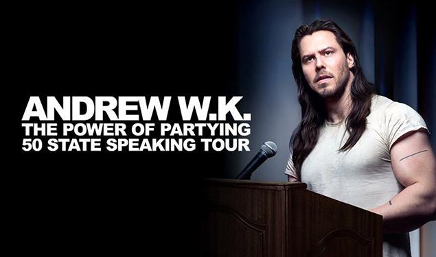 Andrew Wk Speaking Tour