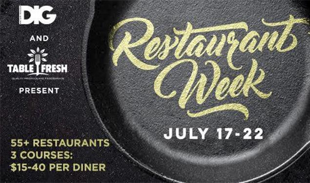 RESTAURANT WEEK JULY 2017