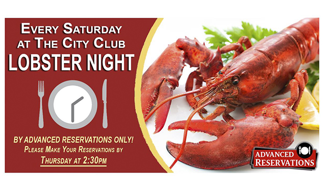 LOBSTER NIGHTS AT CITY CLUB OF BATON ROUGE