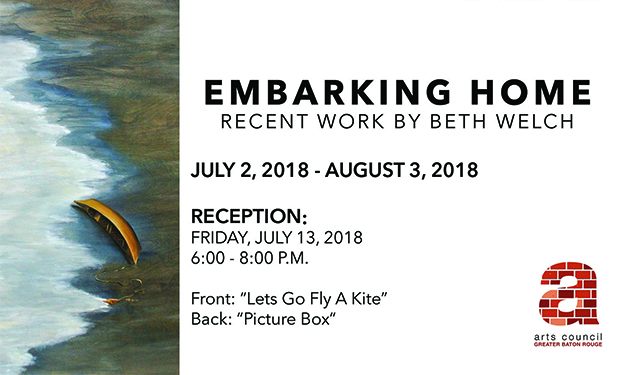 "RECEPTION FOR BETH WELCH'S ""EMBARKING HOME"""