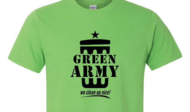 Downtown Green Army Clean Up